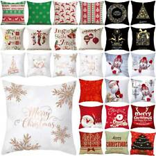 "18"" Xmas Christmas Pillow Case Cushion Cover Waist Throw Sofa Home Decor Gift"
