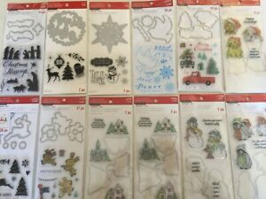 Recollections Christmas Stamp & Die LOT to choose from NEW