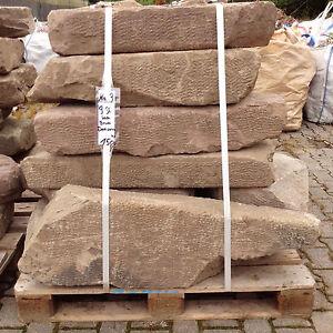 Antike Buntsandstein Mauer Platten Abdeckplatten Sandsteine Natursteine Garten