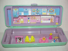 Vintage 1990 Polly Pocket  pencil case House playset Bluebird Dolls & PLAYGROUND