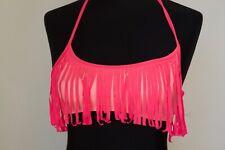 PINK Victoria's Secret Fringe Tassel BIKINI TOP Size small Rarely worn