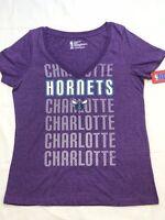 Charlotte Hornets Women's Short Sleeve Mesh Burnout T-Shirt | SZ Medium | NWT