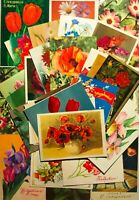 1960-80s Vintage Greeting Cards Flowers Lot 44 pcs Postcards Posted