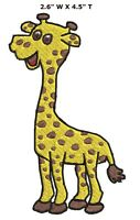 Giraffe Animals Iron or Sewn-On Embroidered Applique Patch Cute Critters Parks