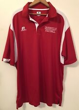 Greenville Football Red Short Sleeve Mens Xl Polo Russell Athletic Dri-Power