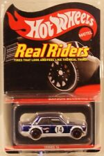 Datsun Bluebird 510 Hot Wheels RLC 2017 Series 14 Real Riders #6095/7000 BLUE
