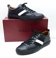 BALLY Helvio Calf Plain Black/White Men's Designer Shoes - Size 11US 44Eu