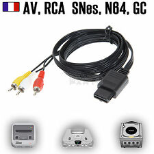 Câble Video RCA Composite Super Nintendo SNES N64 GameCube GC (RGB, RVB, AV)