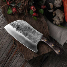 Handmade Forged Kitchen Stainless Steel Knife Hammer Chef's Chopper Cooking Kniv