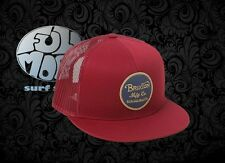 New Brixton Wheeler Burgundy Mesh Back Trucker Snapback Cap Hat