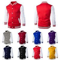 Fashion Mens Varsity Jacket College University Letterman Baseball Coat Outfits