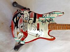 Miniature Reproduction Electric Guitar with Stand ~ Pink Floyd ~ The Wall