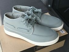 BNIB Generic Surplus Mid Deck Gray Leather Shoes Sz 10