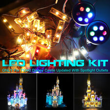 ONLY LED Lighting Kit For LEGO 71040 For Disne Castle Updated With Spotlight