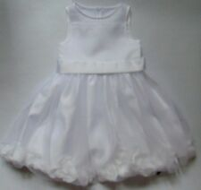White Net/Petals Bridesmaid/Occasion Dress RRP £44-£50 Age 3,4,5,6,7,8,9