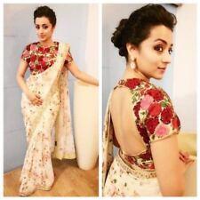 Ethnic Indian Designer Party Wear Saree Pakistani Bollywood Wedding  Sari TSA