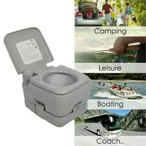 Mobile Camping Toilet Portable Travel Chemical WC Outdoor 10L Flushing Potty OW