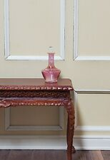 Dollhouse Miniature Decanter Cranberry Glass with Stopper 1:12 Scale Hand Blown