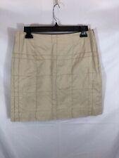 Dana B & Karen Womens Size 8 Beige Square Pattern A-Line Skirt