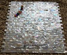 11PCS natural color rectangular shell mosaic tile living room backdrop bathroom