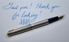 Parker 75 Cisele Sterling Silver Classic Fountain Pen - Great Condition!