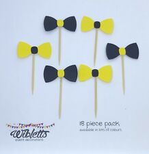 CUPCAKE CAKE TOPPERS YELLOW BLACK EMMA WIGGLE BOWS BOWTIFUL THE WIGGLES PARTY