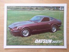 DATSUN 260Z 2+2 & 2-Seater orig 1977 UK Mkt Sales Brochure -  Nissan Fairlady Z