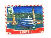 Lindau Bodensee Magnet Leuchtturm Löwe Poly 7 cm Germany Souvenir