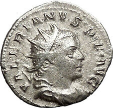 VALERIAN I 253AD Silver  Ancient  Roman Coin Sol with whip Sun God Cult i55133