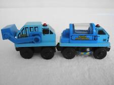 Rare Retired Wooden Thomas Friends Railway Train Rubbish Truck & Street Sweeper