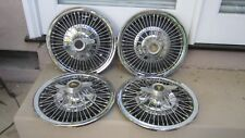 1964-1966 PONTIAC GTO LEMANS TEMPEST SPINNER WIRE HUBCAP WHEEL COVER SET- OEM