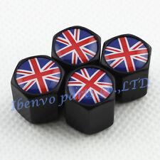 Black Styling Metal Car Wheel Tyre Tire Stem Air Valve Cap For Union Jack Flag