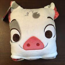 "NWT DISNEY Moana PUA PIG Soft Plush 50""x50"" Blanket Throw Convertible Pillow NEW"
