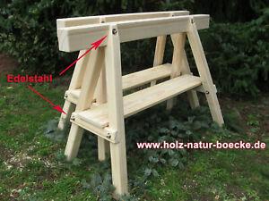 Holzböcke, 2 neue Profi- ,Stützböcke mit Edelstahl,Montageböcke,Arbeitsböcke,