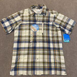 New! Columbia PFG Vented Fishing Plaid Shirt Men's Size Small Short Sleeve  NWT