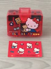 New Hello Kitty 1991 SANRIO 76 Rubber Stamp Kit ink Pad Case box Stationary