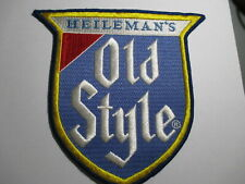 Heileman's Old Style Beer Vintage,NOS,Embroidered Patch, 7 1/2 x 7 1/4 INCHES