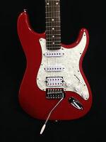 4/4 Haze E-211MRD Electric Guitar,Sparkling Red + Free Bag,Strap,Digital Tuner