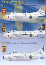 Print Scale Decals 1/48 SAAB J-29 TUNNAN Swedish Jet Fighter