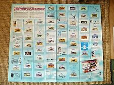 More details for rare brooke bond 1972 wall chart poster - history of aviation / vgc