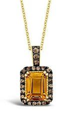 Le Vian ® Colgante-Canela Citrino ® ® Diamantes De Chocolate - 14K Miel Oro ™