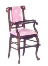 Dolls House Mahogany Windsor High Chair Platinum Collection Nursery Furniture