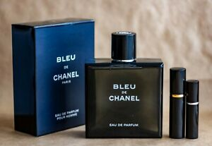 Bleu de Chanel 5 ml or 10 ml Travel Size Spray EDP Eau de Parfum
