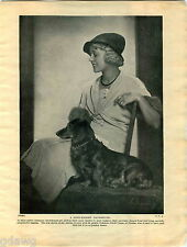 1930 Book Plate Print Dachsund Long-Haired Friedl Czepa Pekingese Tai Tu Cross