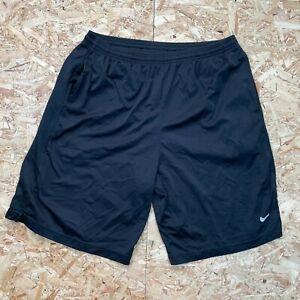Men's Black Nike Gym Basketball Sports Shorts Size XL, With Pockets