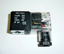 WIC Valve VC Series 110V AC Encapsulated Solenoid Coil With LED DIN Connector