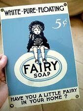 Vintage Look FAIRY SOAP Room Sign Metal