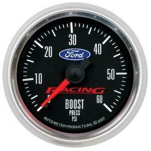"Autometer Ford Racing 2-1/16"" Boost 0-60 PSI Gauge"