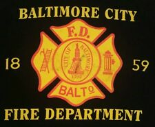 Baltimore Fire Department Maryland T-Shirt Sz L FDNY