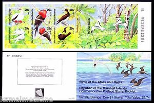 White Brown Boody, Tern, Birds, Marshall Island 1991 Booklet